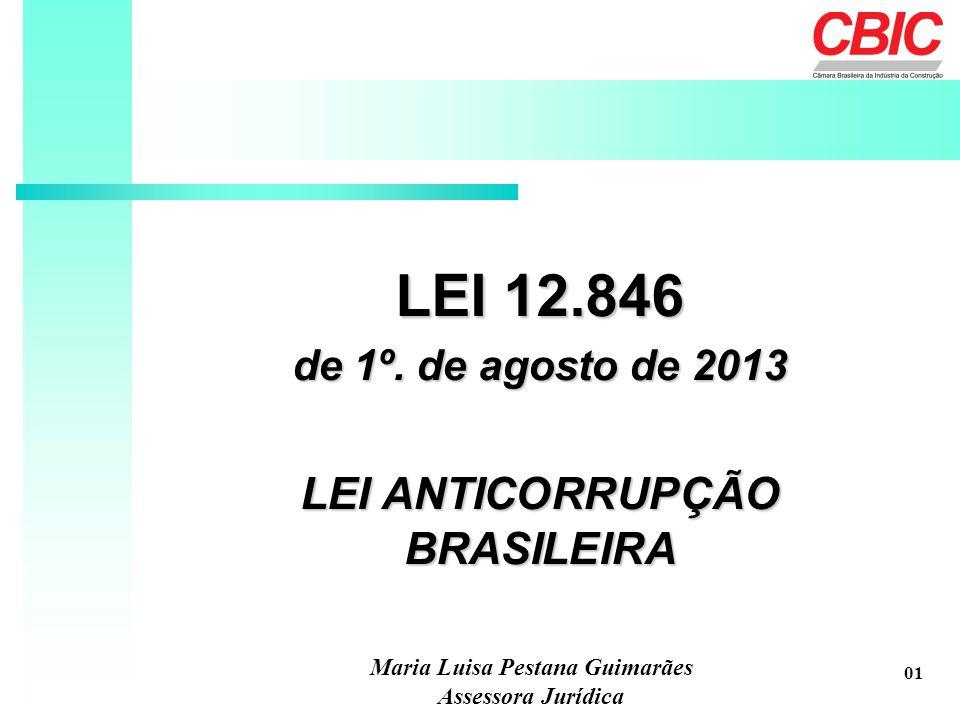 LEI ANTICORRUPÇÃO BRASILEIRA Maria Luisa Pestana Guimarães