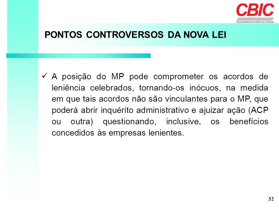 PONTOS CONTROVERSOS DA NOVA LEI
