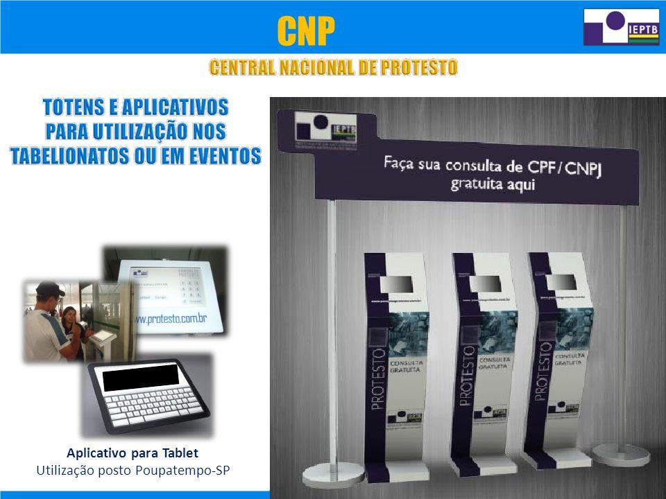 CNP Aplicativo para Tablet Utilização posto Poupatempo-SP