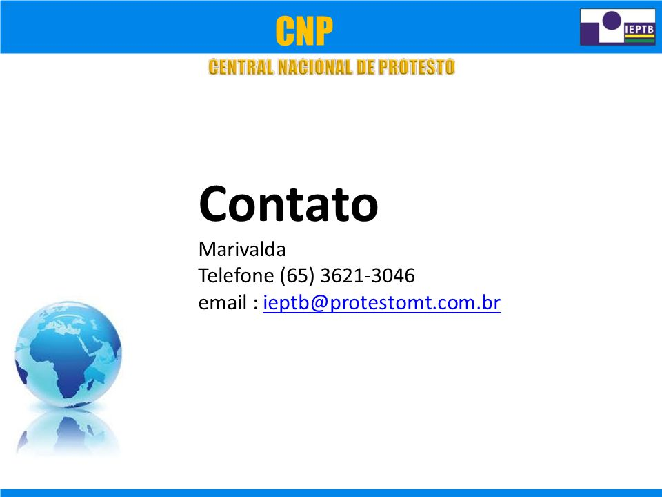 Contato CNP Marivalda Telefone (65) 3621-3046