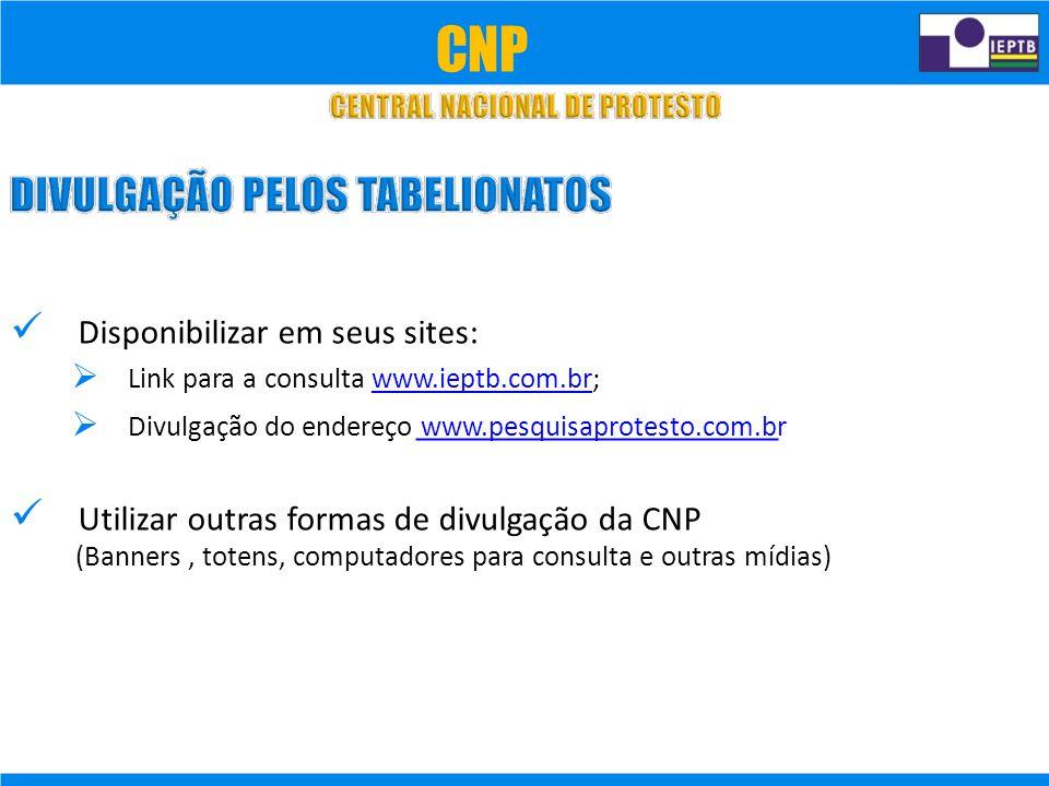 CNP  Disponibilizar em seus sites:
