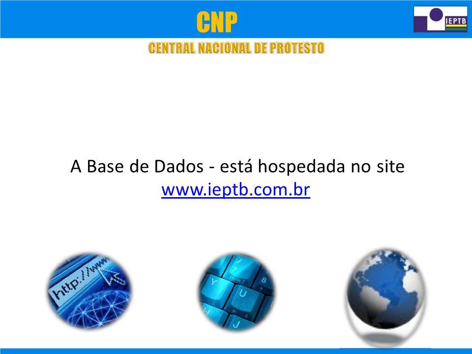 CNP A Base de Dados - está hospedada no site www.ieptb.com.br