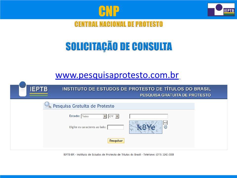 CNP www.pesquisaprotesto.com.br