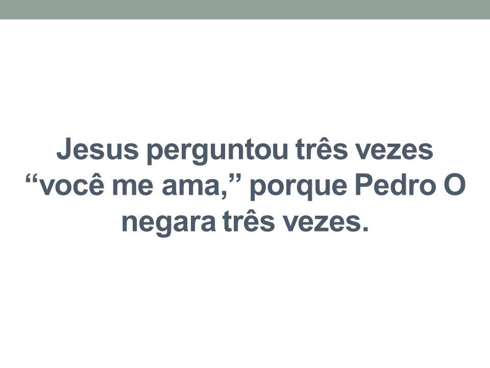 Jesus perguntou três vezes você me ama, porque Pedro O negara três vezes.