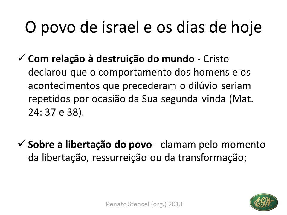 O povo de israel e os dias de hoje