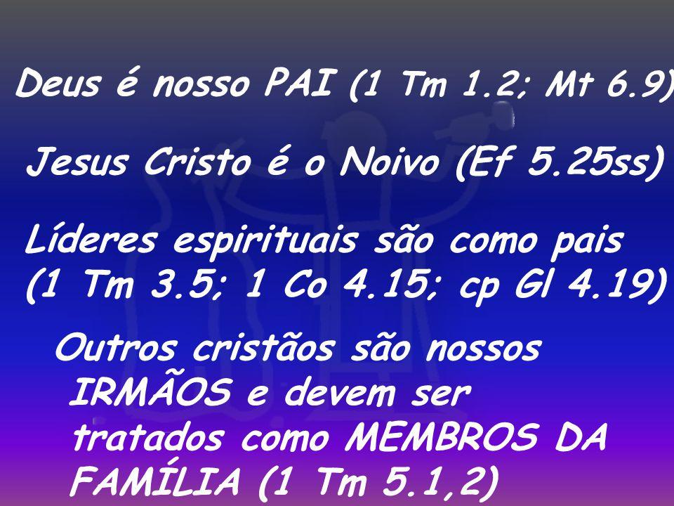 Deus é nosso PAI (1 Tm 1.2; Mt 6.9)