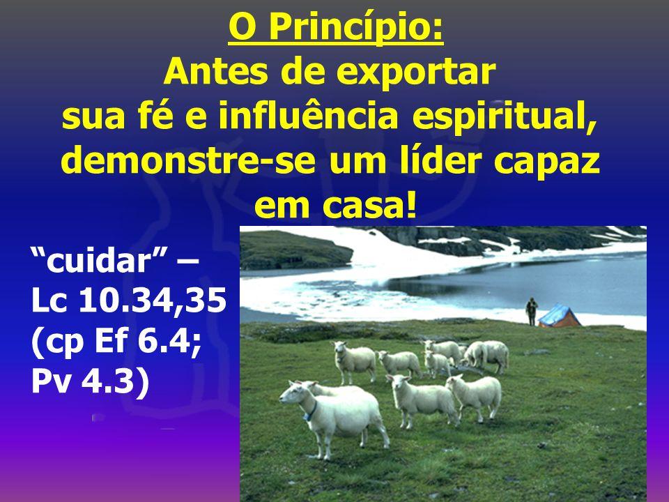 sua fé e influência espiritual, demonstre-se um líder capaz