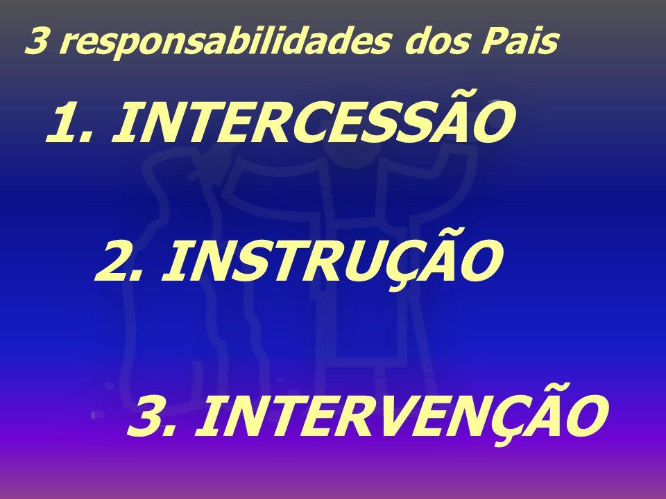 1. INTERCESSÃO 2. INSTRUÇÃO 3. INTERVENÇÃO