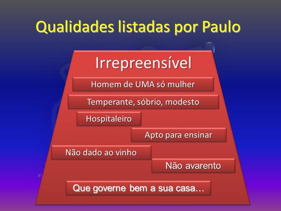 Qualidades listadas por Paulo