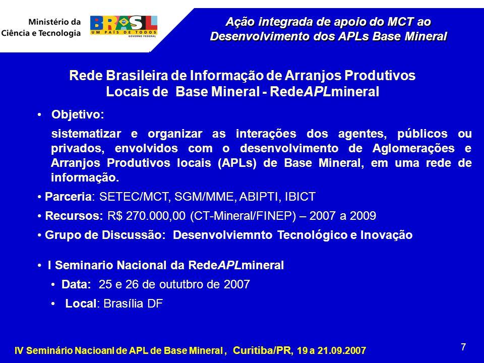 Rede Brasileira de Informação de Arranjos Produtivos