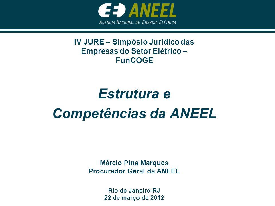 Estrutura e Competências da ANEEL