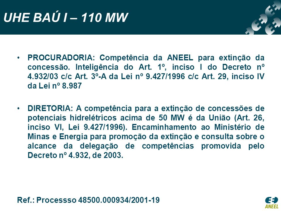 UHE BAÚ I – 110 MW