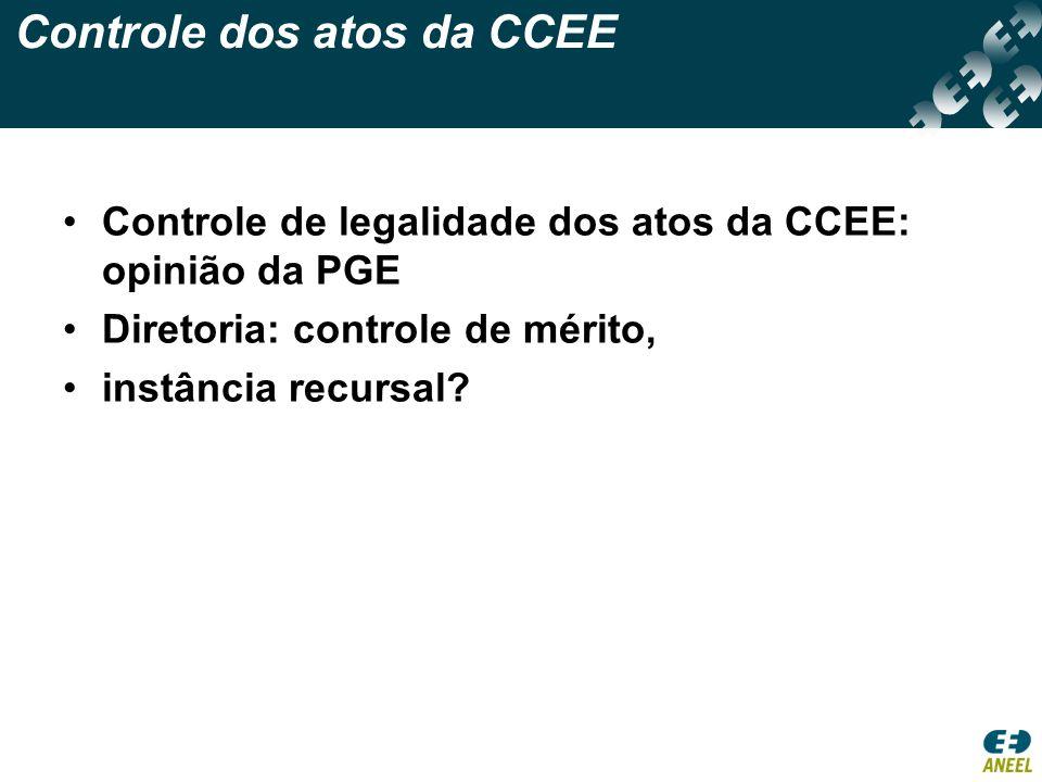 Controle dos atos da CCEE