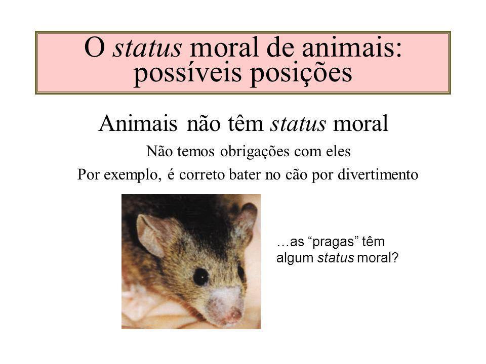 O status moral de animais: possíveis posições