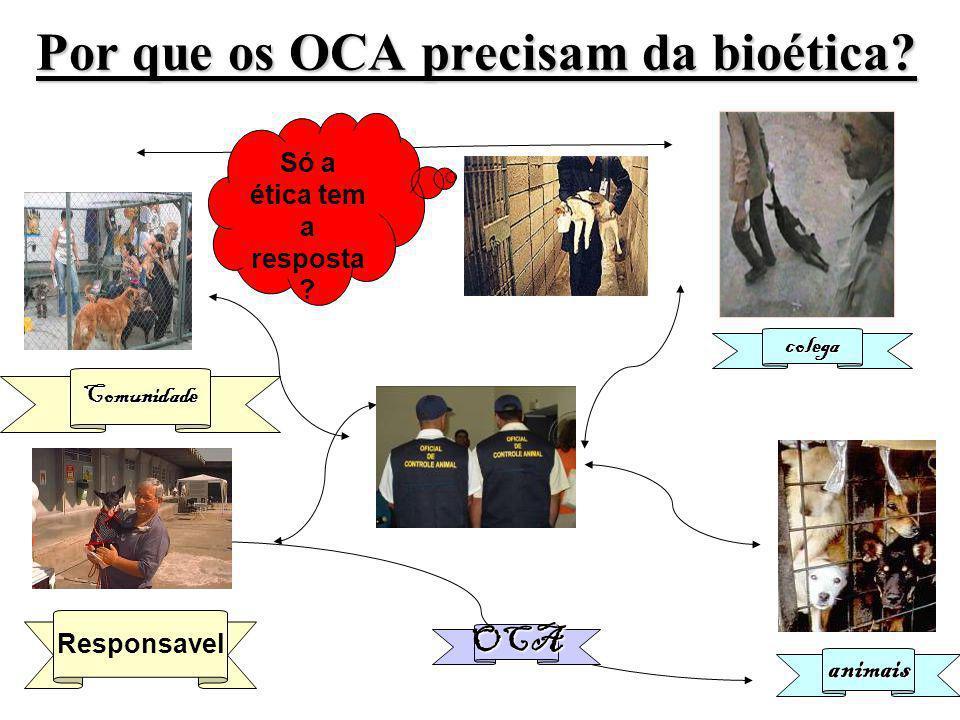 Por que os OCA precisam da bioética