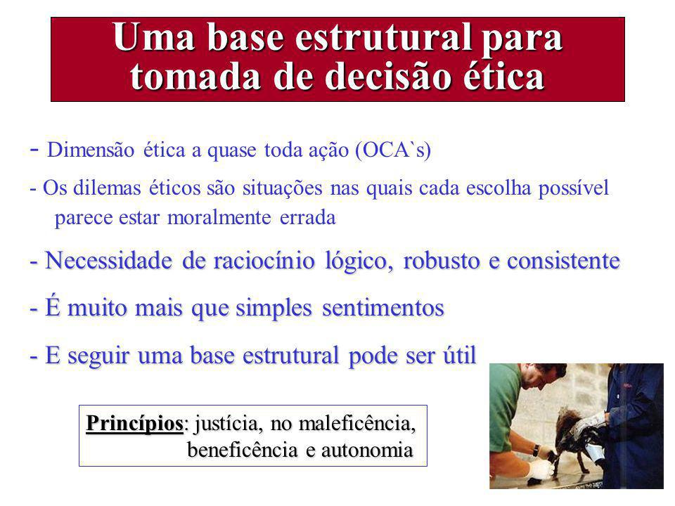 Uma base estrutural para tomada de decisão ética
