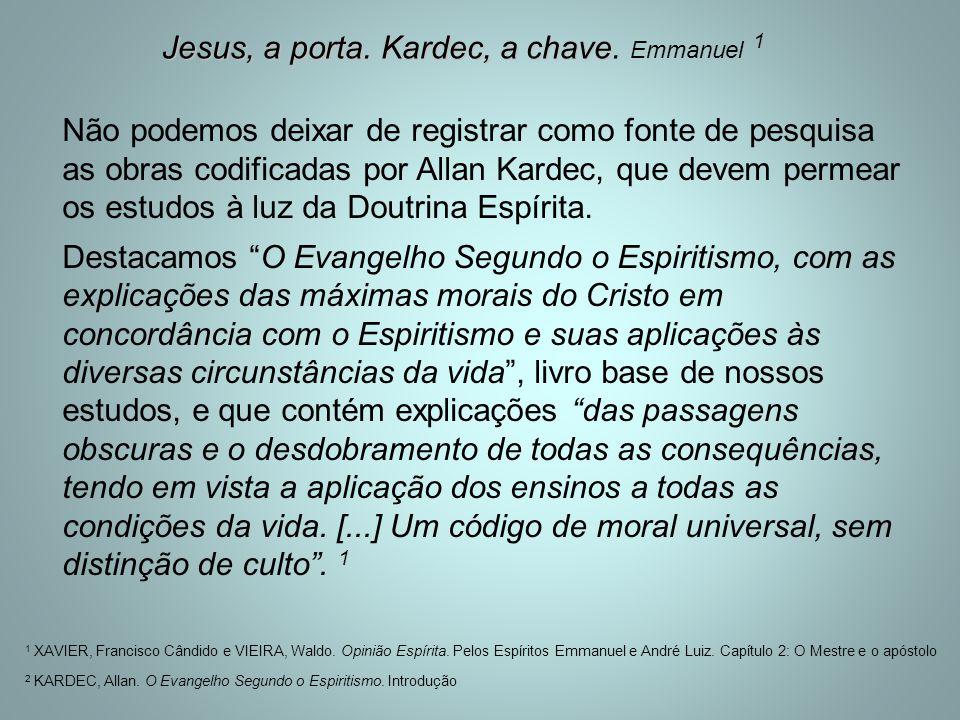 Jesus, a porta. Kardec, a chave. Emmanuel 1