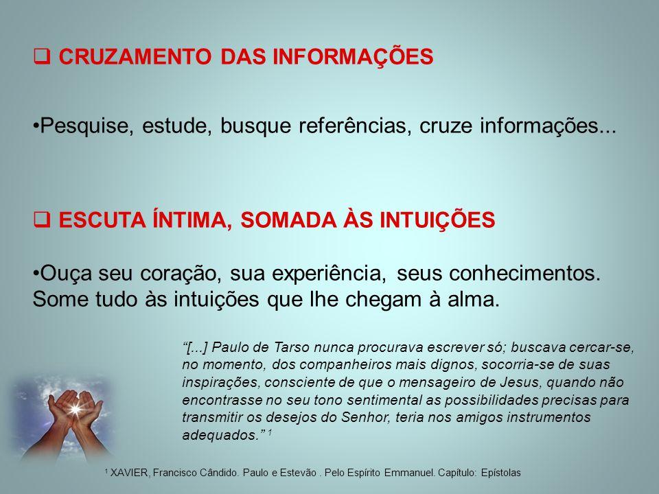 CRUZAMENTO DAS INFORMAÇÕES
