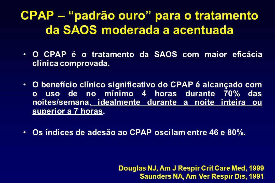 CPAP – padrão ouro para o tratamento da SAOS moderada a acentuada