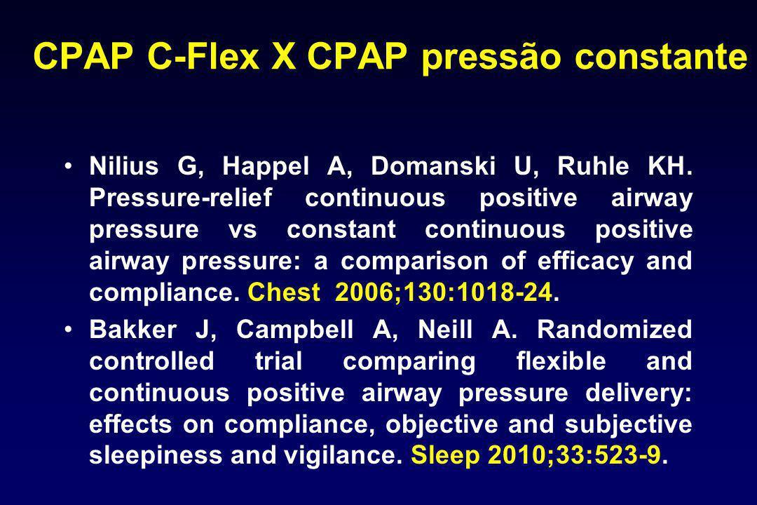 CPAP C-Flex X CPAP pressão constante