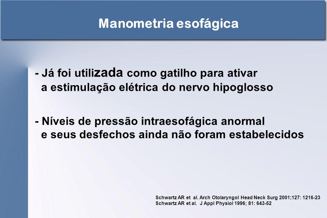 Manometria esofágica - Já foi utilizada como gatilho para ativar