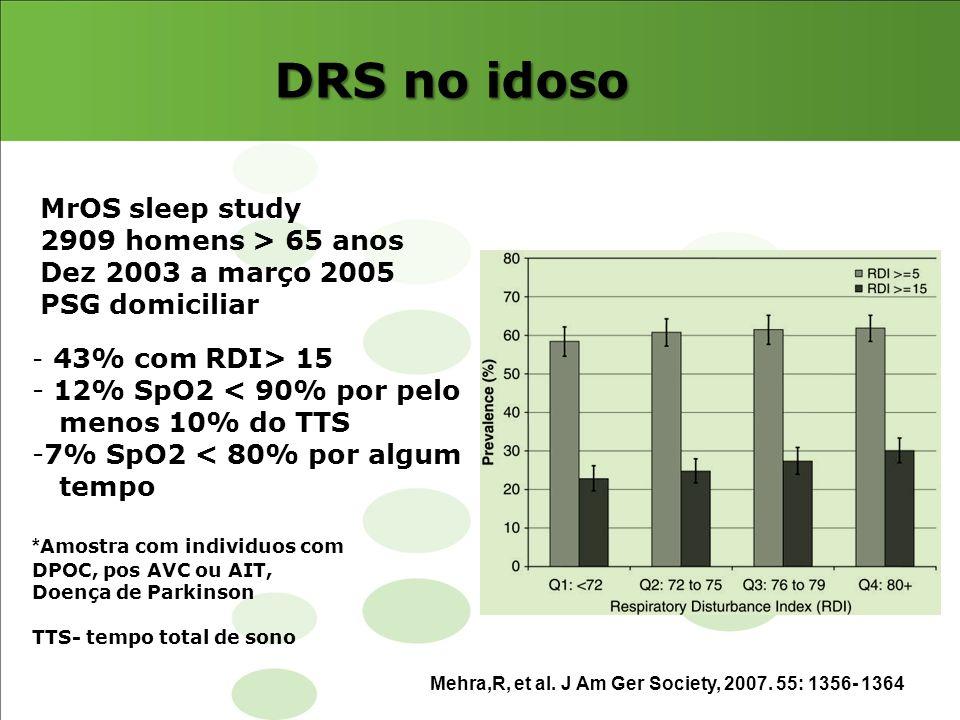 DRS no idoso MrOS sleep study 2909 homens > 65 anos
