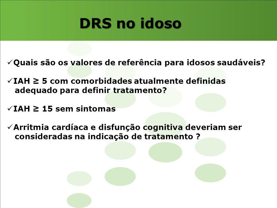 DRS no idoso Quais são os valores de referência para idosos saudáveis