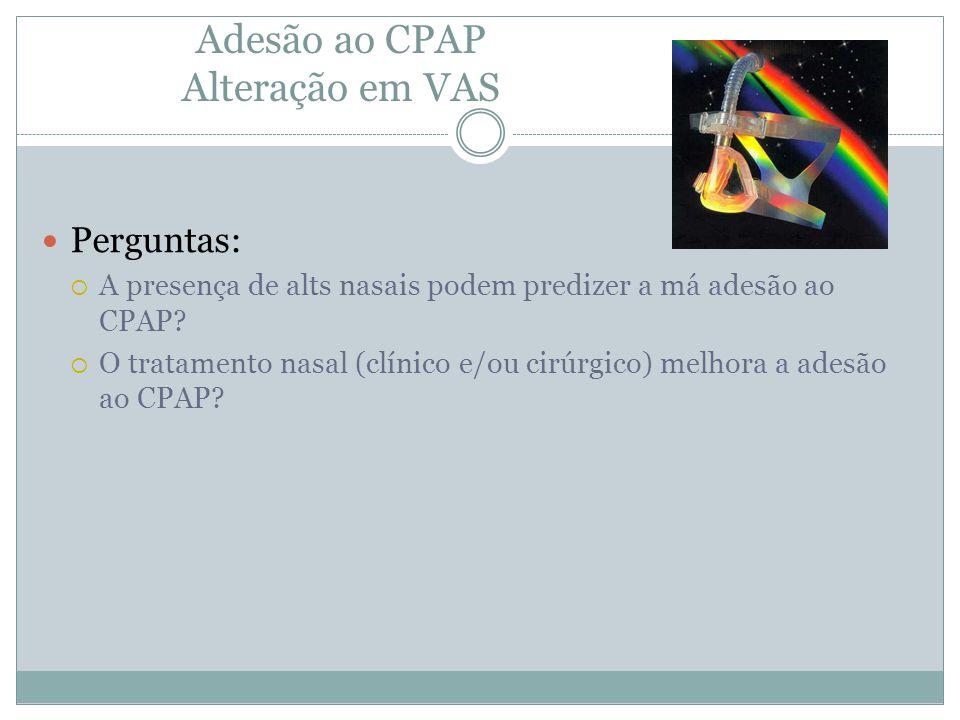 Adesão ao CPAP Alteração em VAS