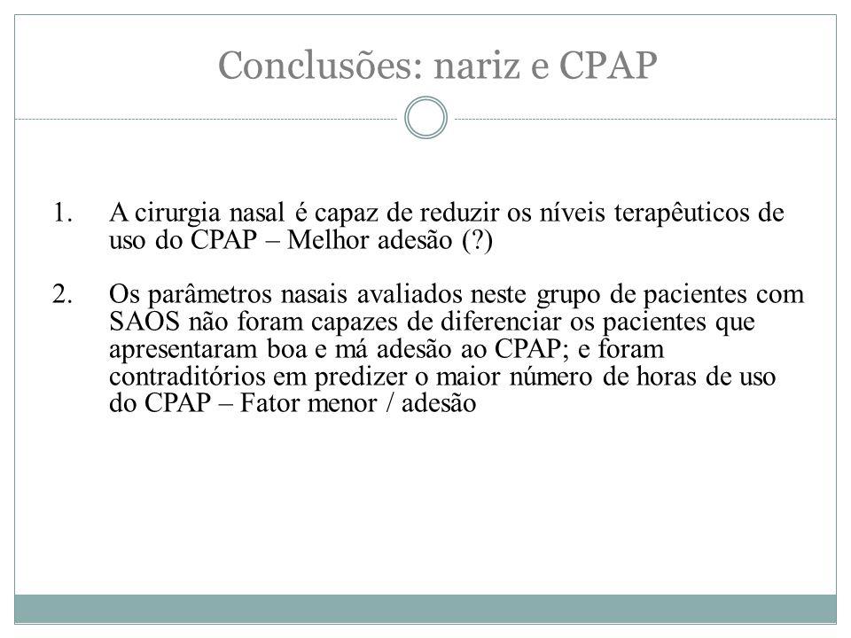Conclusões: nariz e CPAP