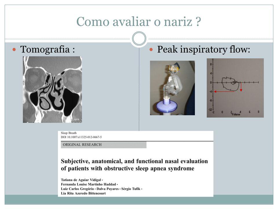 Como avaliar o nariz Tomografia : Peak inspiratory flow: