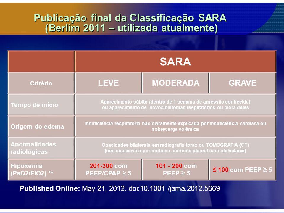 Publicação final da Classificação SARA (Berlim 2011 – utilizada atualmente)