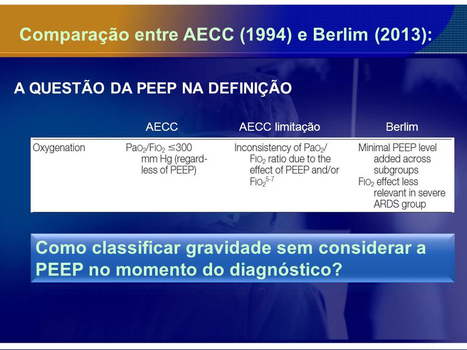 Comparação entre AECC (1994) e Berlim (2013):