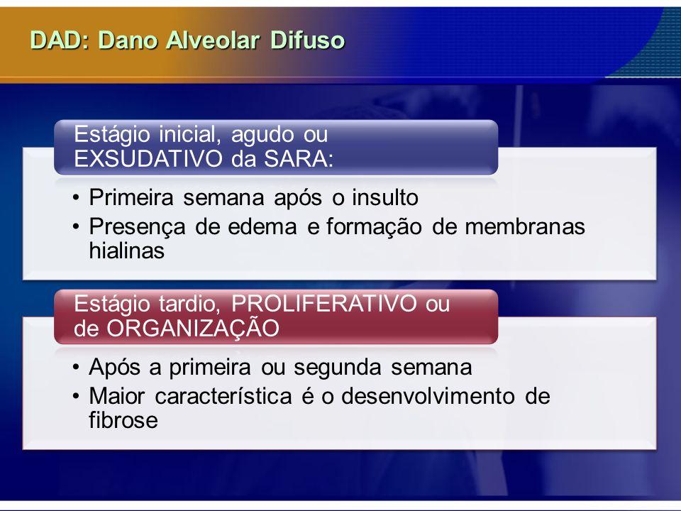 DAD: Dano Alveolar Difuso