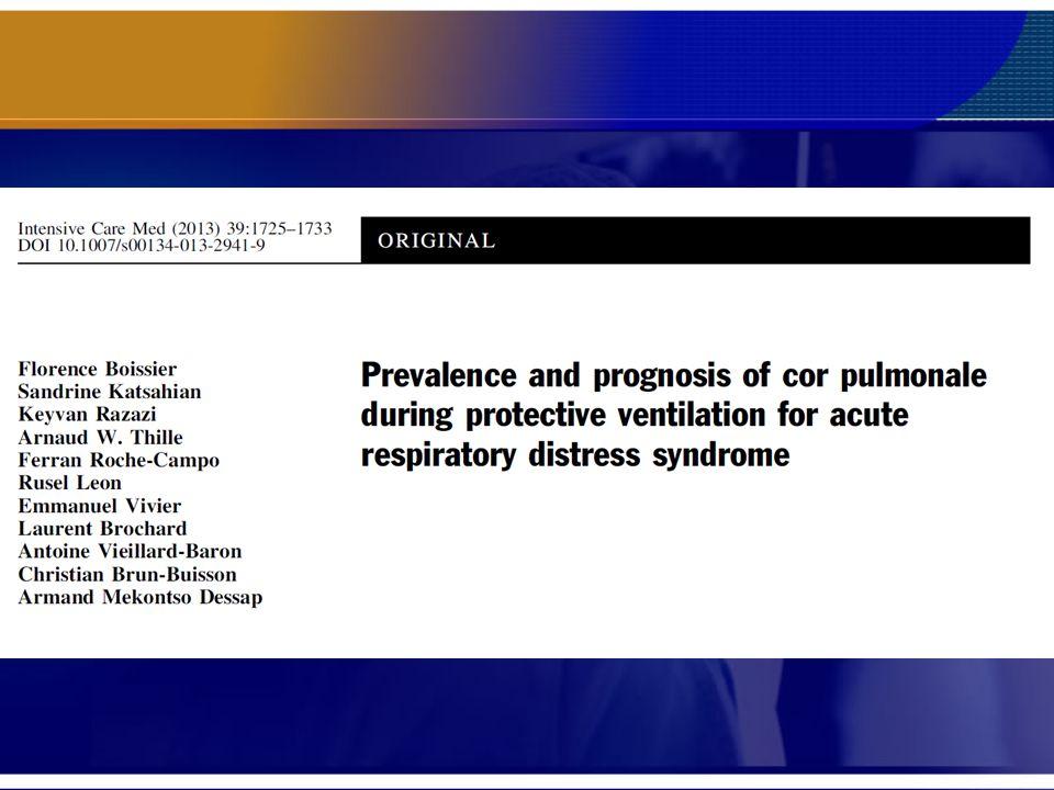 Estudo observacional de 5 anos com mais de 200 casos de sara grave com a incidência diagnosticada de 22% de Acute Cor Pulmonale (ACP) e a comprovação do pior prognostico