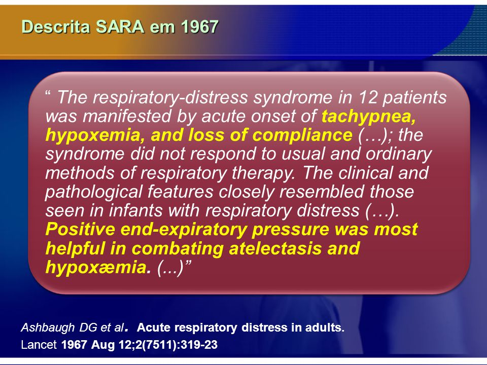 Descrita SARA em 1967