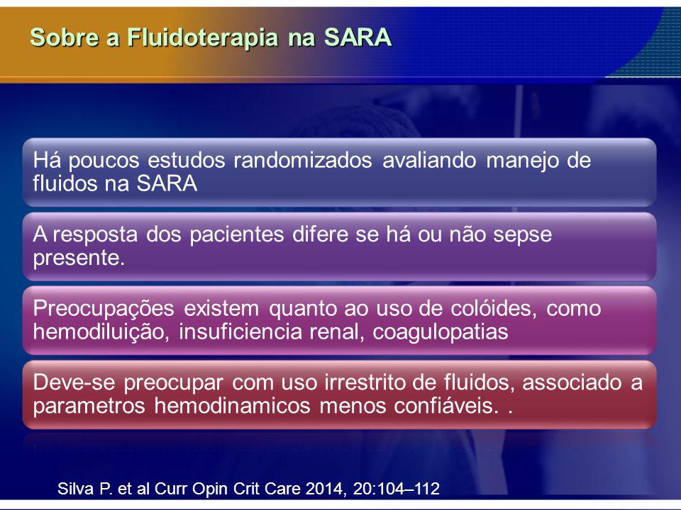 Sobre a Fluidoterapia na SARA