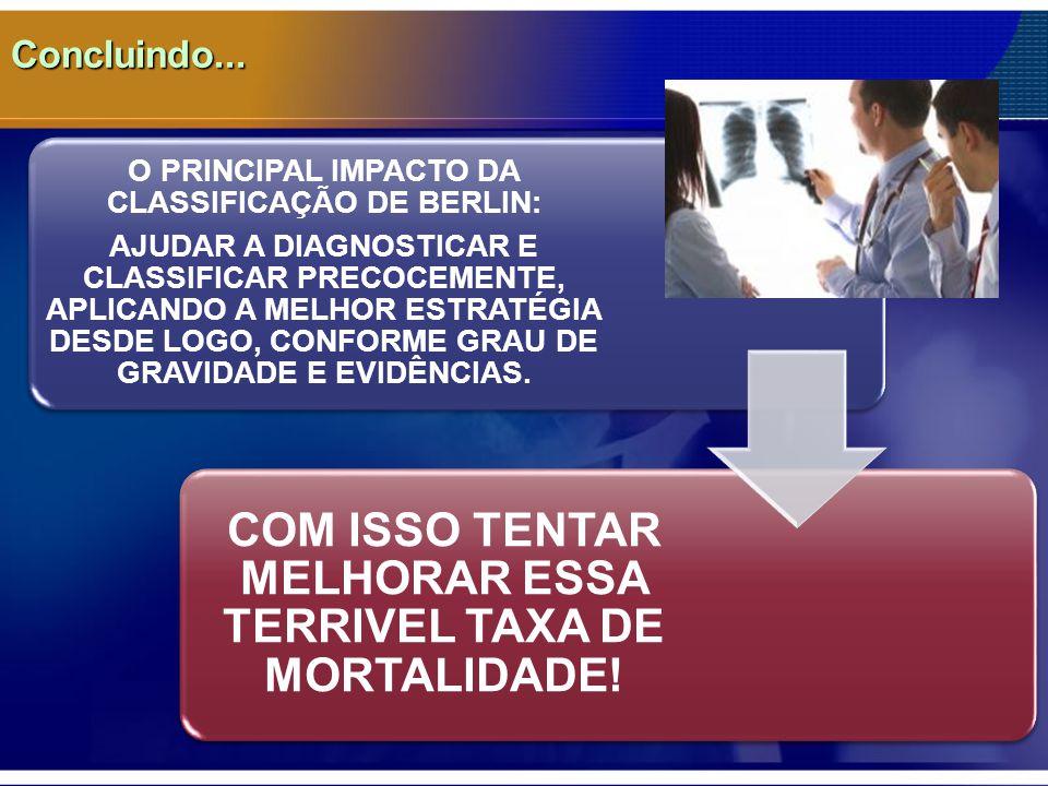 COM ISSO TENTAR MELHORAR ESSA TERRIVEL TAXA DE MORTALIDADE!