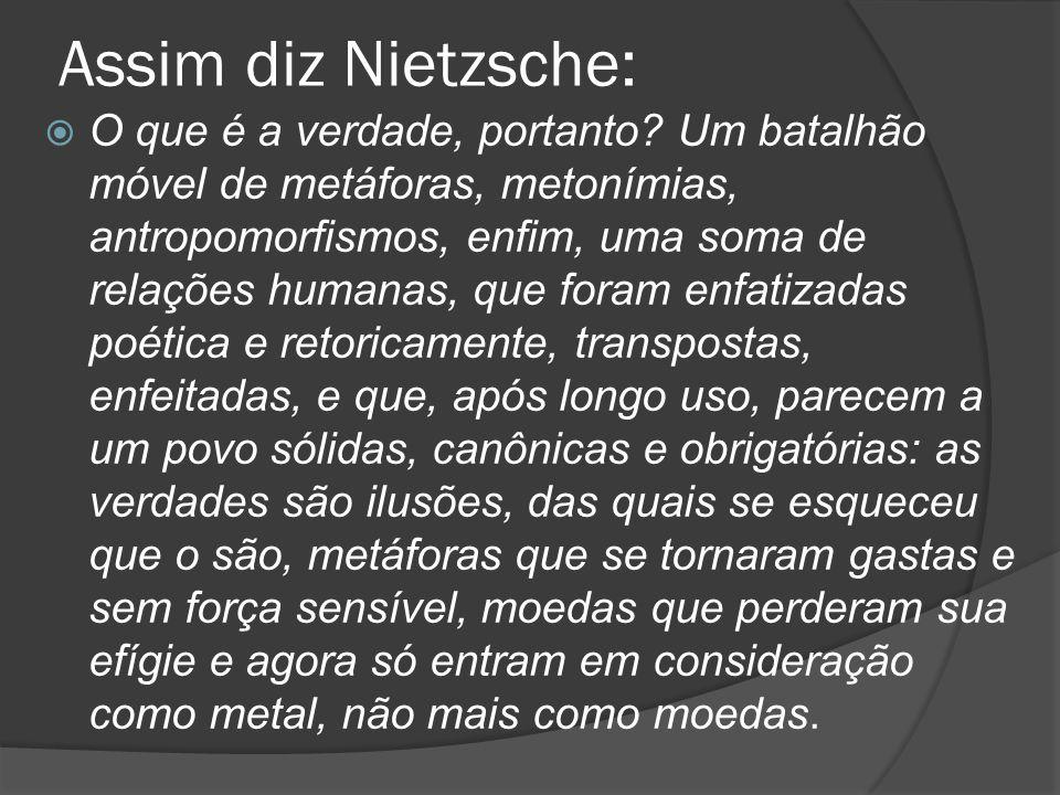 Assim diz Nietzsche: