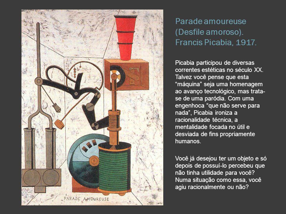 Parade amoureuse (Desfile amoroso). Francis Picabia, 1917.