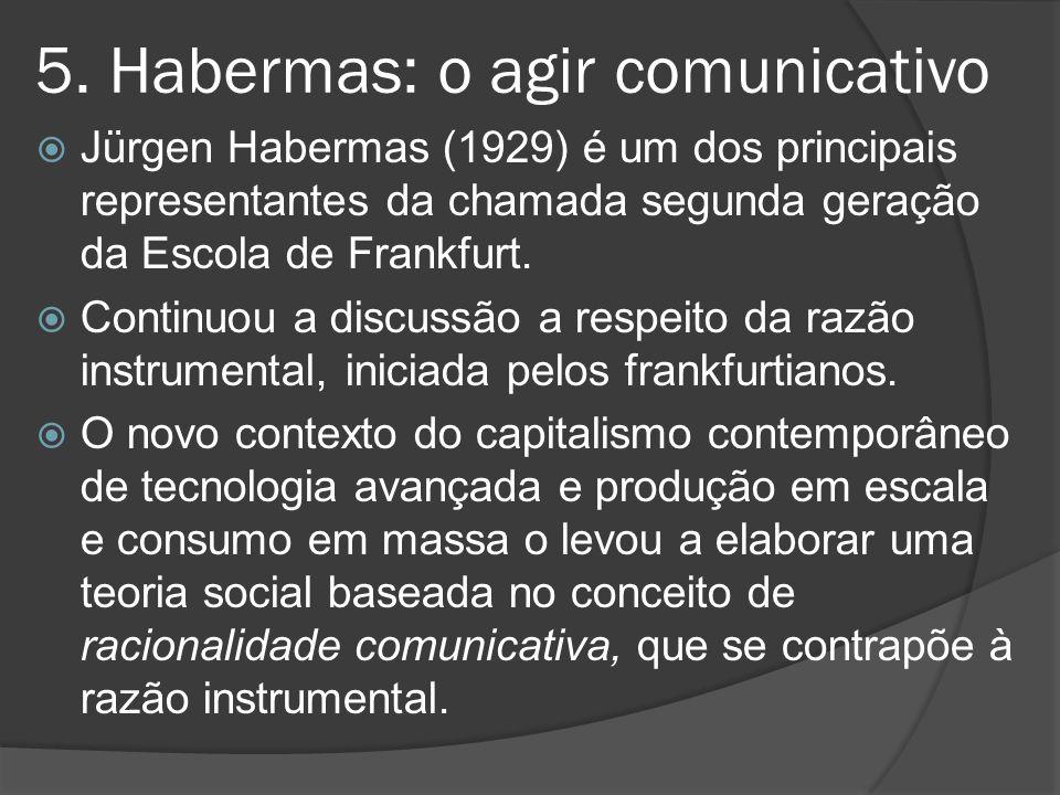 5. Habermas: o agir comunicativo