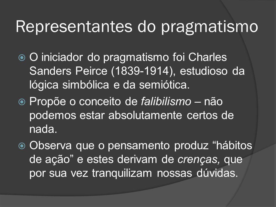 Representantes do pragmatismo
