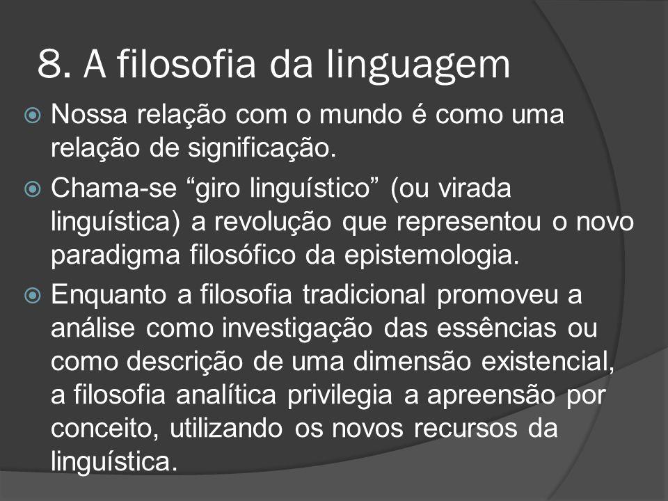 8. A filosofia da linguagem