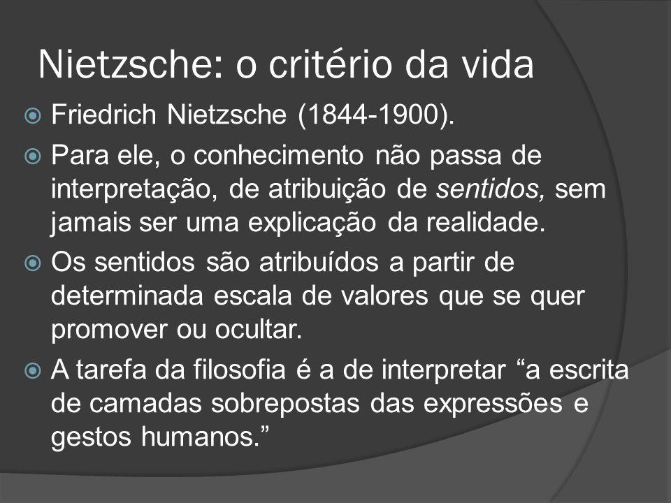 Nietzsche: o critério da vida
