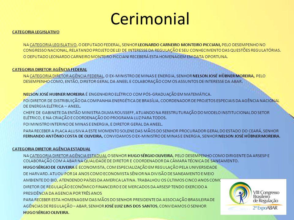 Cerimonial Categoria LEGISLATIVO