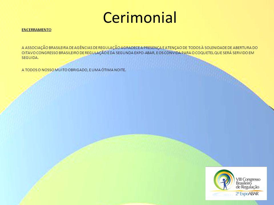 Cerimonial ENCERRAMENTO