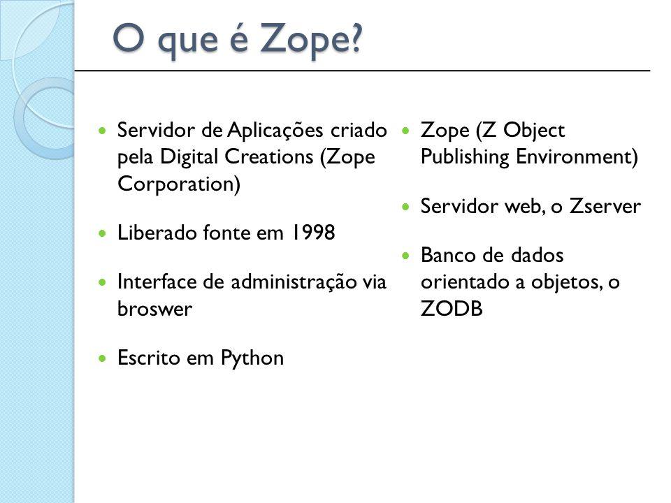 O que é Zope ______________________________________________