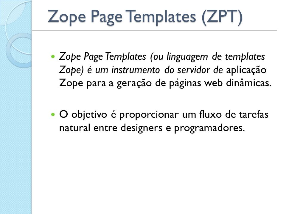 Zope Page Templates (ZPT)