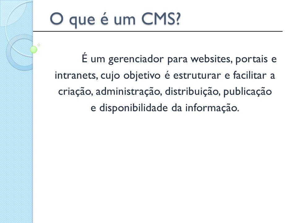 O que é um CMS intranets, cujo objetivo é estruturar e facilitar a
