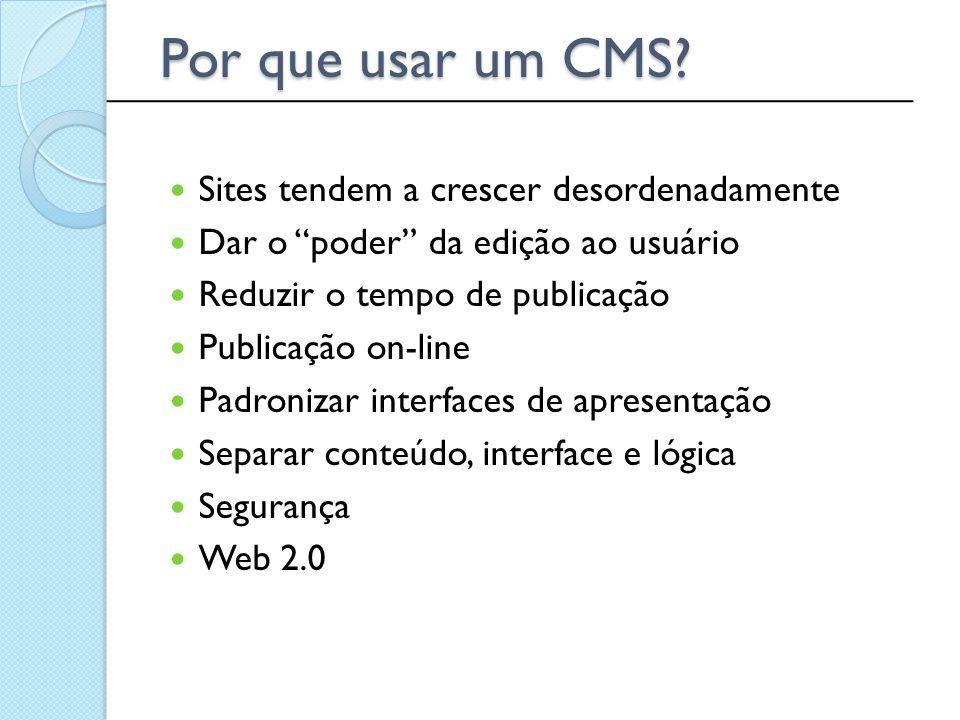 Por que usar um CMS Sites tendem a crescer desordenadamente