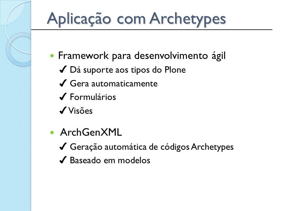 Aplicação com Archetypes